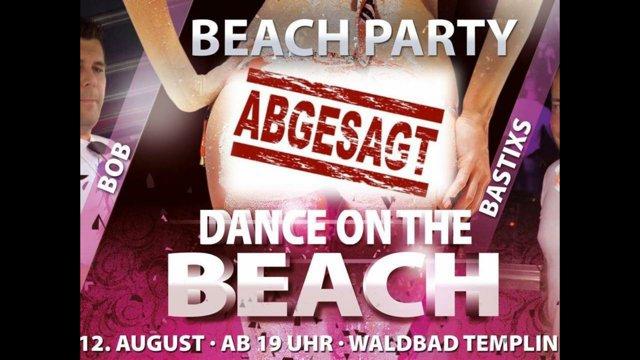 beach party abgesagt