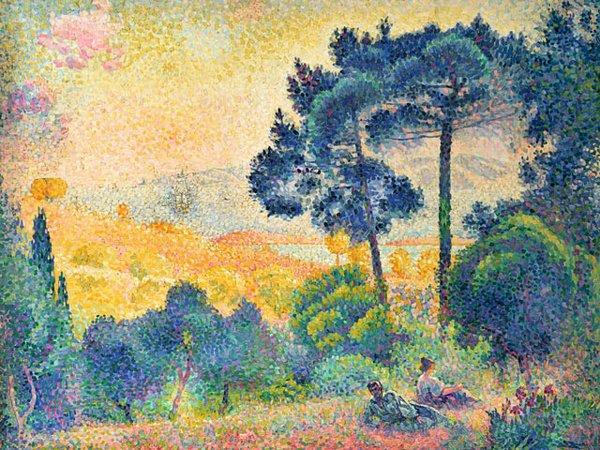 Henri-Edmond Cross, Landschaft der Provence