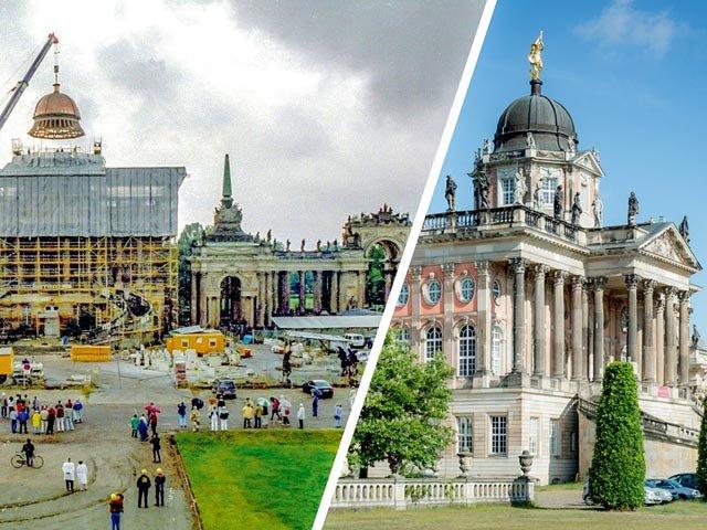 Universität Potsdam damals (1996) und heute