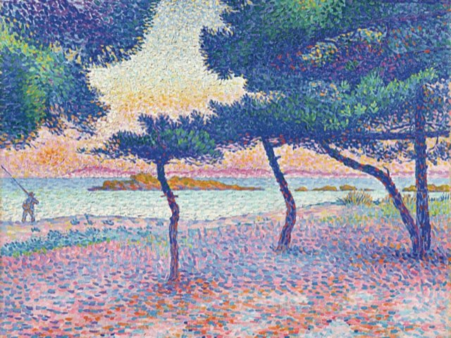 Henri-Edmond Cross, Der Strand von Saint-Clair