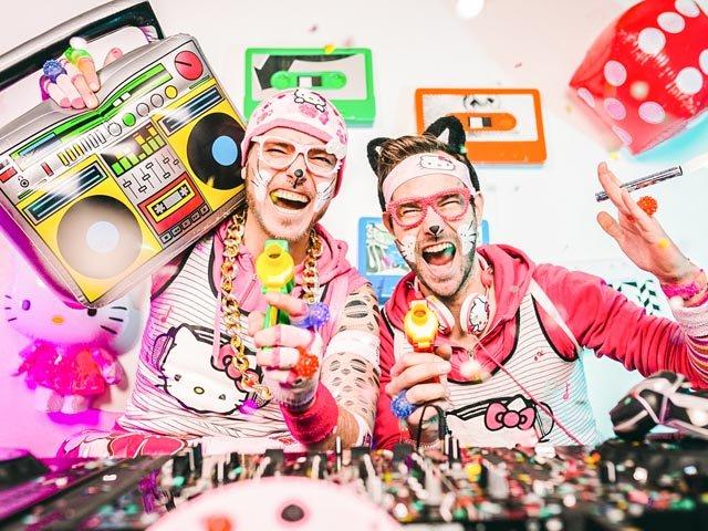 Mütze Katze DJ Team