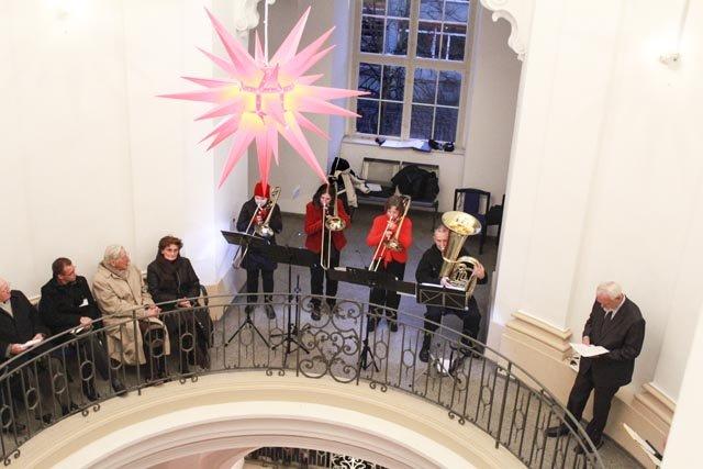 Bläsermusik im barocken Treppenhaus