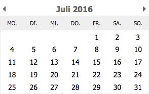 Kalender Monats-Grafik